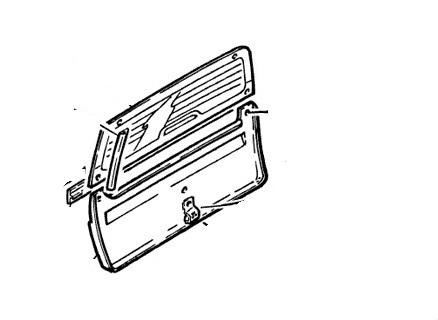 Hátsó szélvédő MICROCAR Virgo I/II